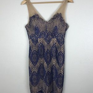 Navy and Cream Lulu's Lace Dress